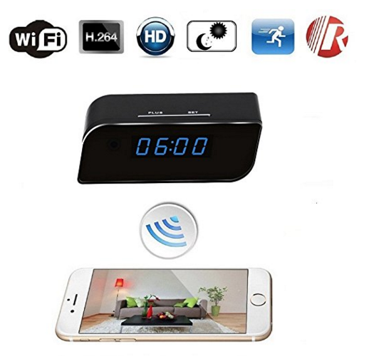 PC-WIFICCT3 WIFI Hidden Clock Camera T3,P2P, iOS and Android App