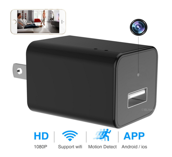 PC-WIFIUSB WIFI Hidden USB Charger Camera 1080p, P2P, iOS and Android App